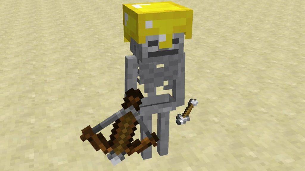 8. Стрельба из арбалета в Minecraft