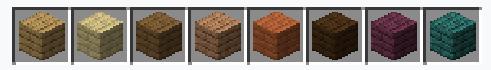 Виды досок в игре Minecraft