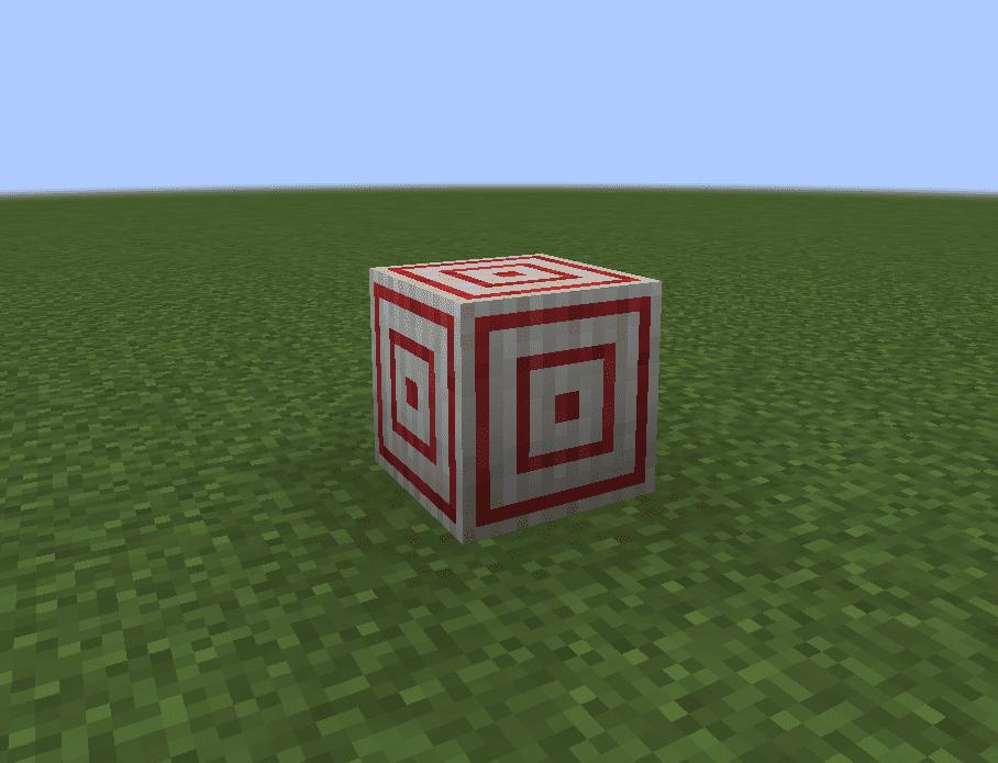 Мишень в Minecraft блок