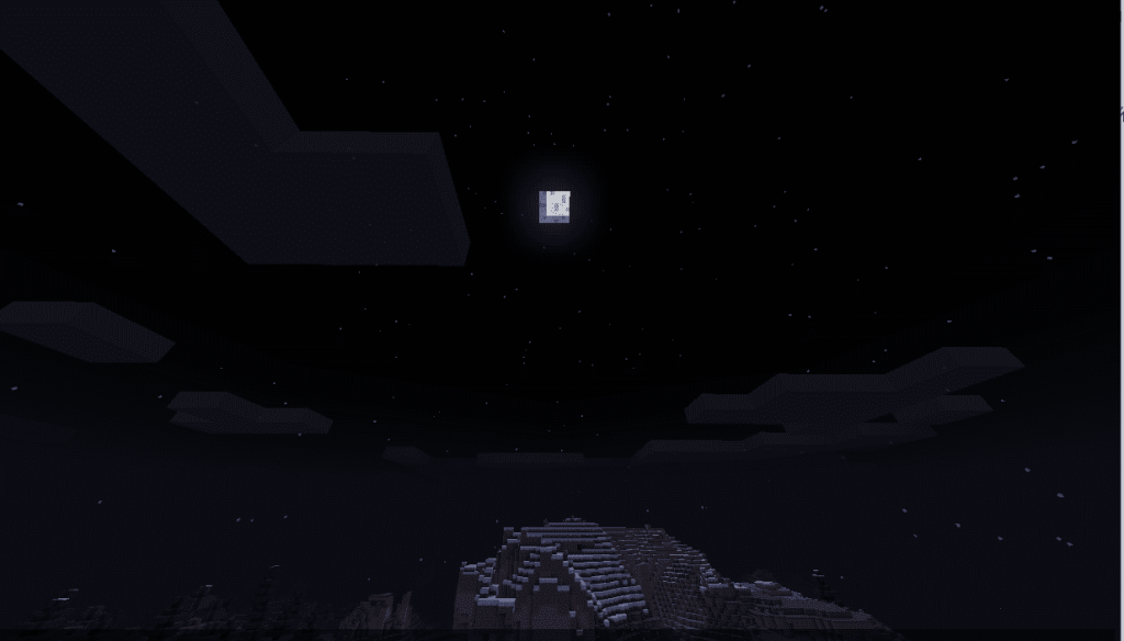 Ночь в игре Minecraft