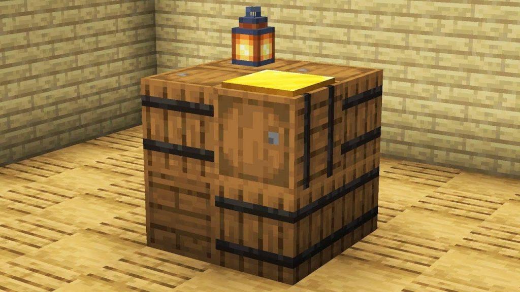 Декорации из бочки Minecraft