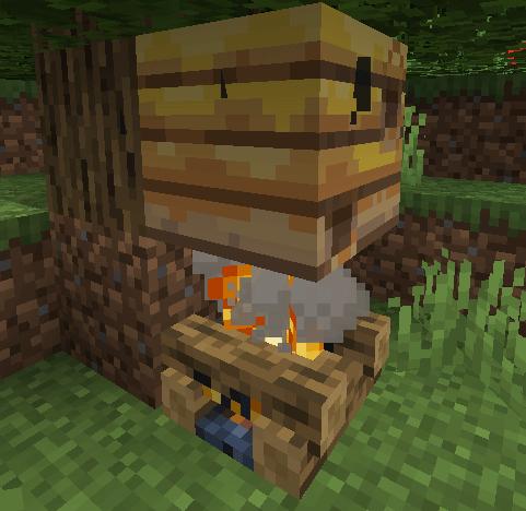 Как понять, что мед в Minecraft можно собирать