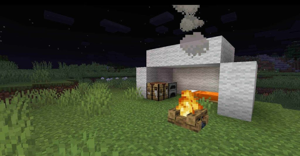 Костер в Minecraft внешний вид