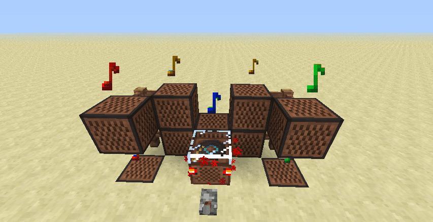 Музыкальный блок Minecraft схема