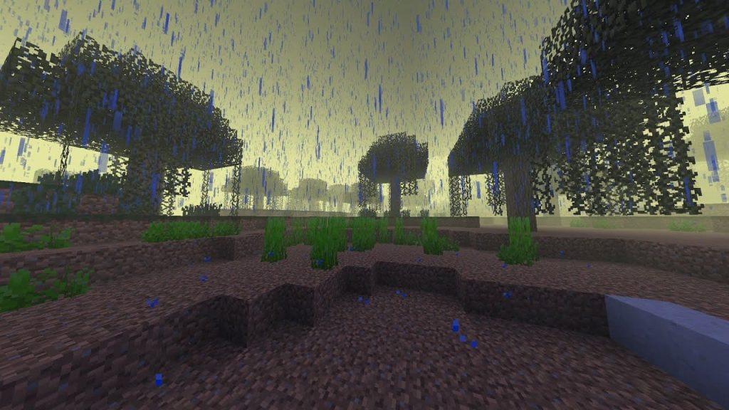 Дождь в игре Майнкрафт