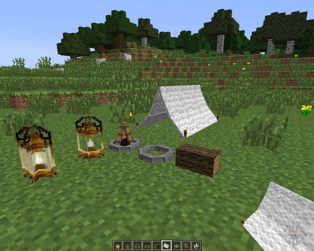 The Camping Mod Minecraft