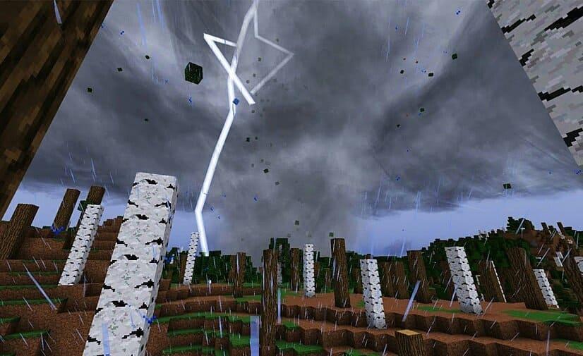 Молния в игре Майнкрафт