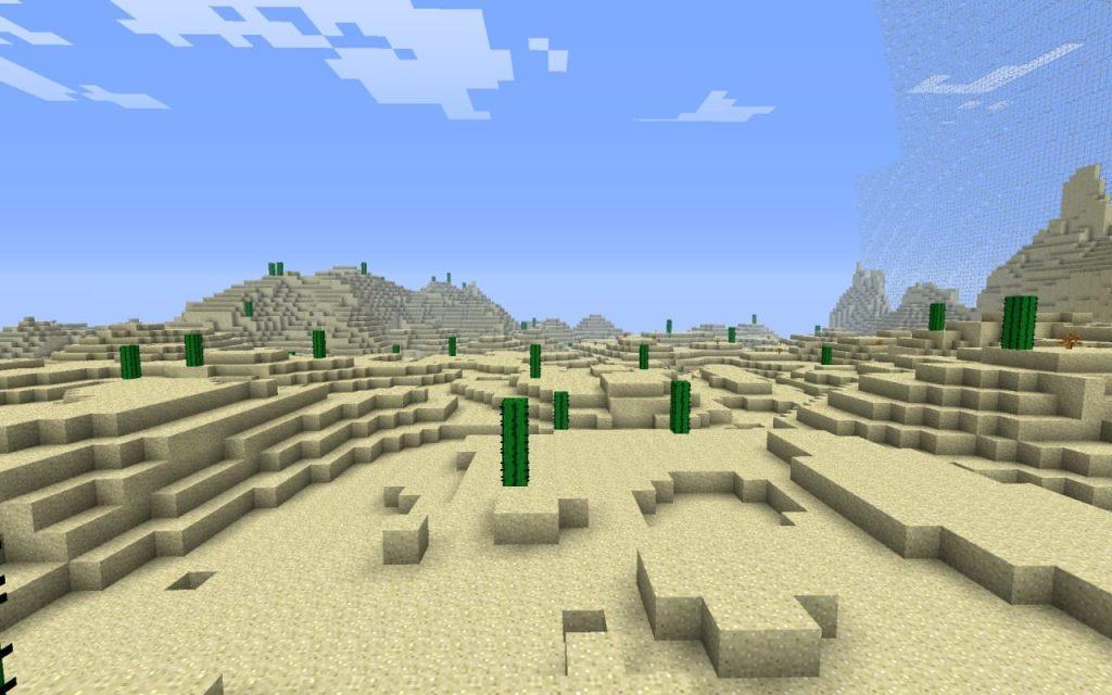 пустыня в игре Майнкрафт